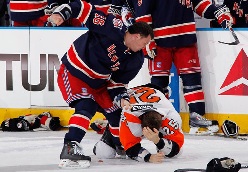 Sean Avery Scoffs At That Old Wive's Tale That Men Shouldn't Be Hit While They're Down