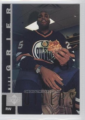 Worst Hockey Cards: What Time Is It, Mike Grier? It's Pizza Time!